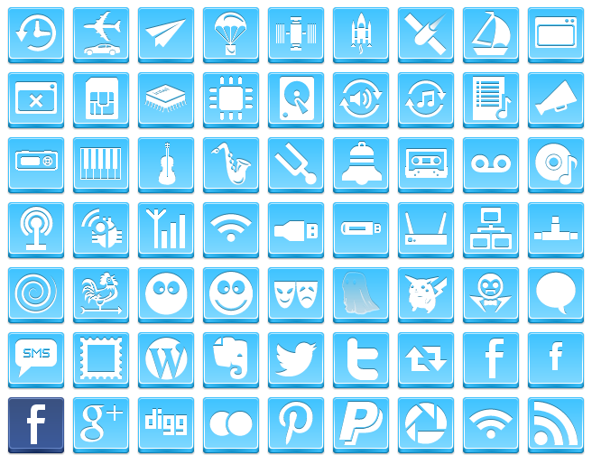 Free Button Icons Blue