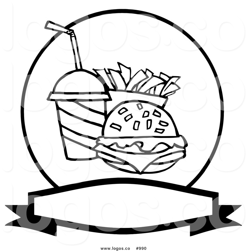 Free Fast Food Clip Art Black and White