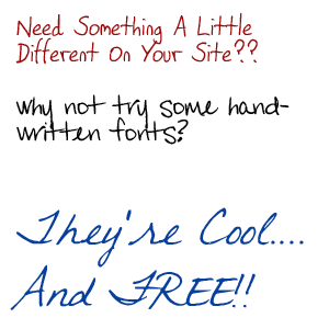 13 Free Handwriting Fonts For Word Images