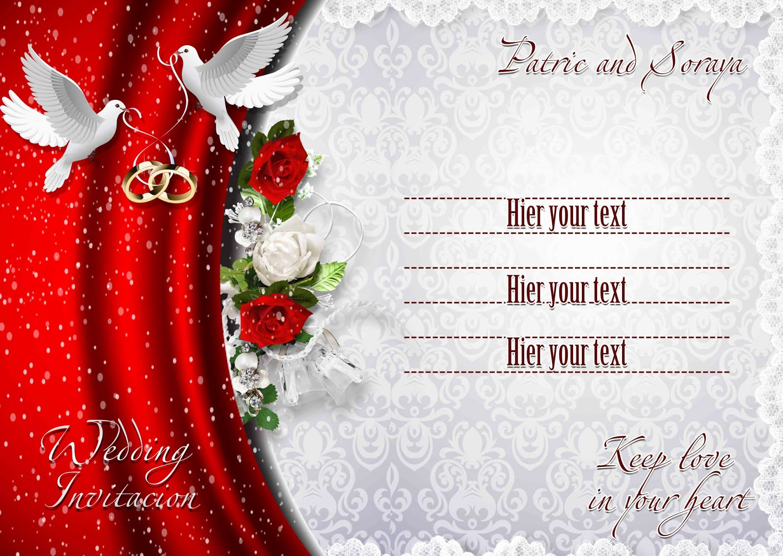 wedding invitation cards psd free - 28 images - wedding card ...