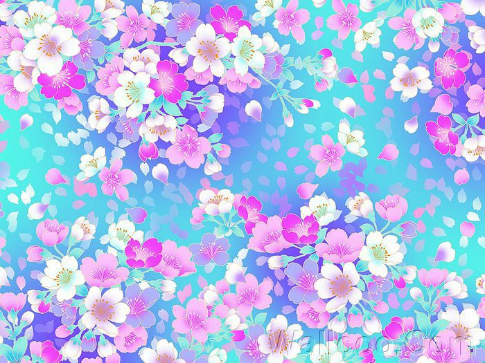 Girly Flower Background Patterns