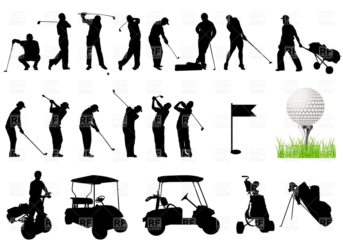 One Person Golf Cart >> 16 Golf Vector Clip Art Images - Golf Course Clip Art, Golf Silhouette Clip Art Free and Golf ...