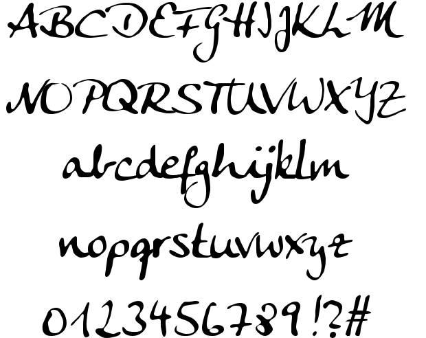 Alphabet Letters A Z And Gothic Calligraphy Fonts