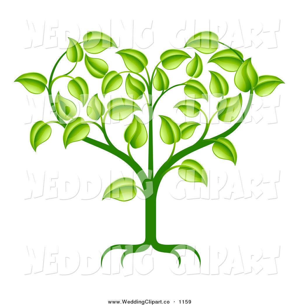 Growing Plant Clip Art Heart