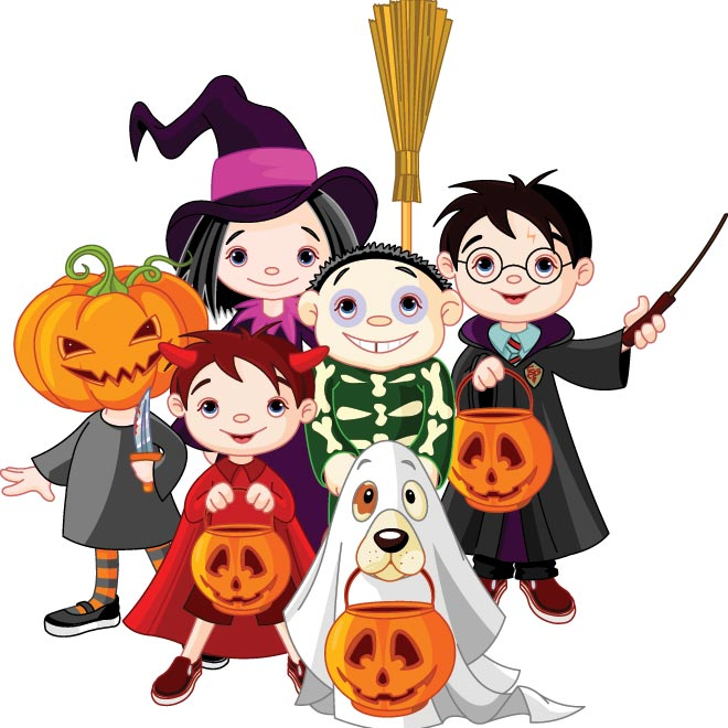 14 Vectors Halloween Costume Kids Images
