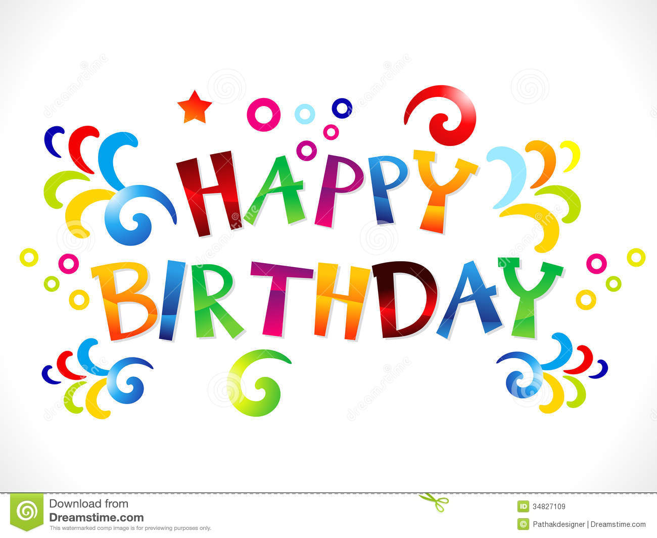 Happy Birthday Banner Clip Art