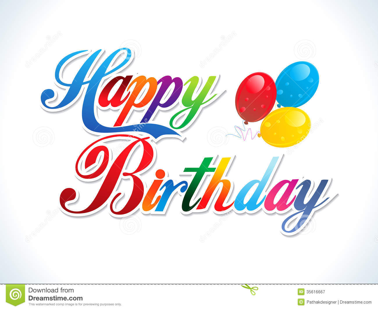 13 Vector Abstract Birthday Images