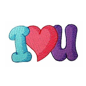 11 I Love You Embroidery Font Images