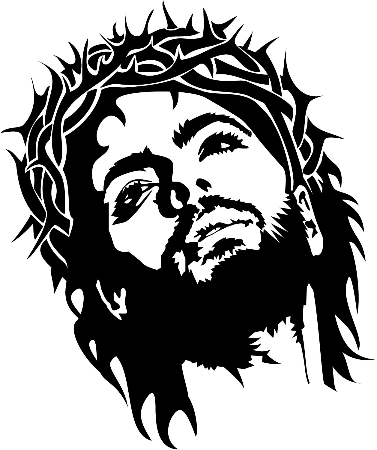 13 Jesus Vector Black And White Images