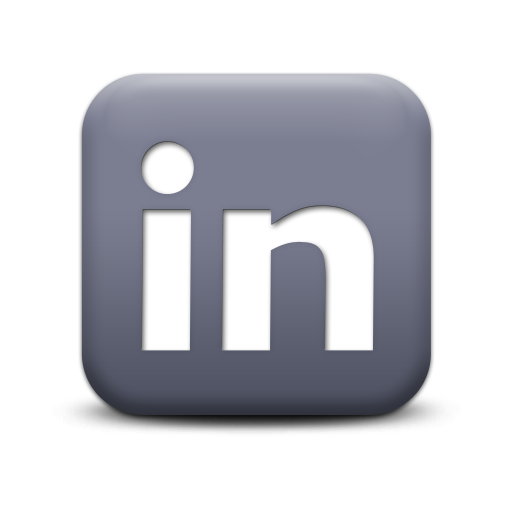 12 Grey LinkedIn Icon Images