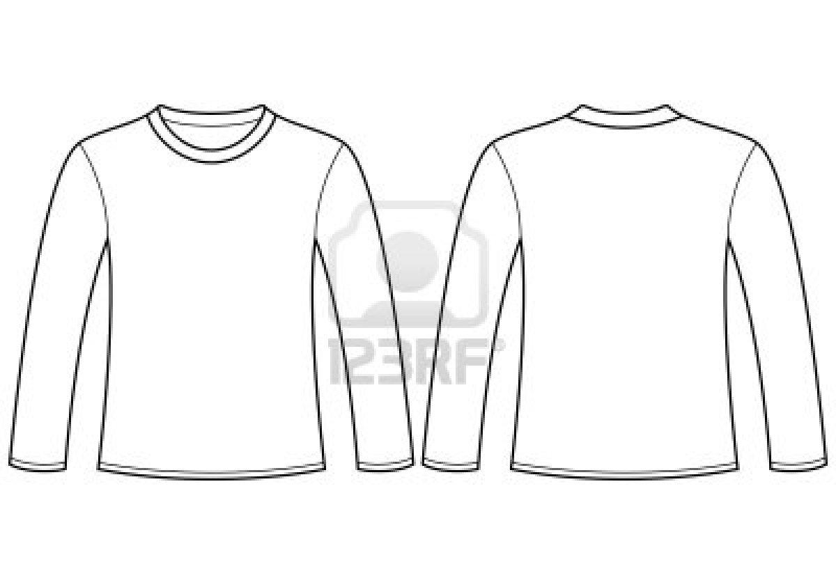 Long Sleeve Blank Shirt Template
