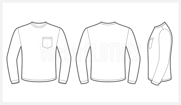 Long Sleeve Shirt Template