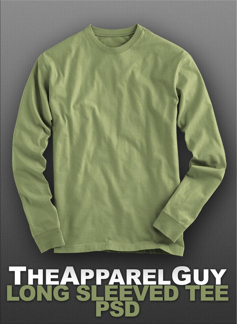 Long Sleeve T-Shirt Template PSD