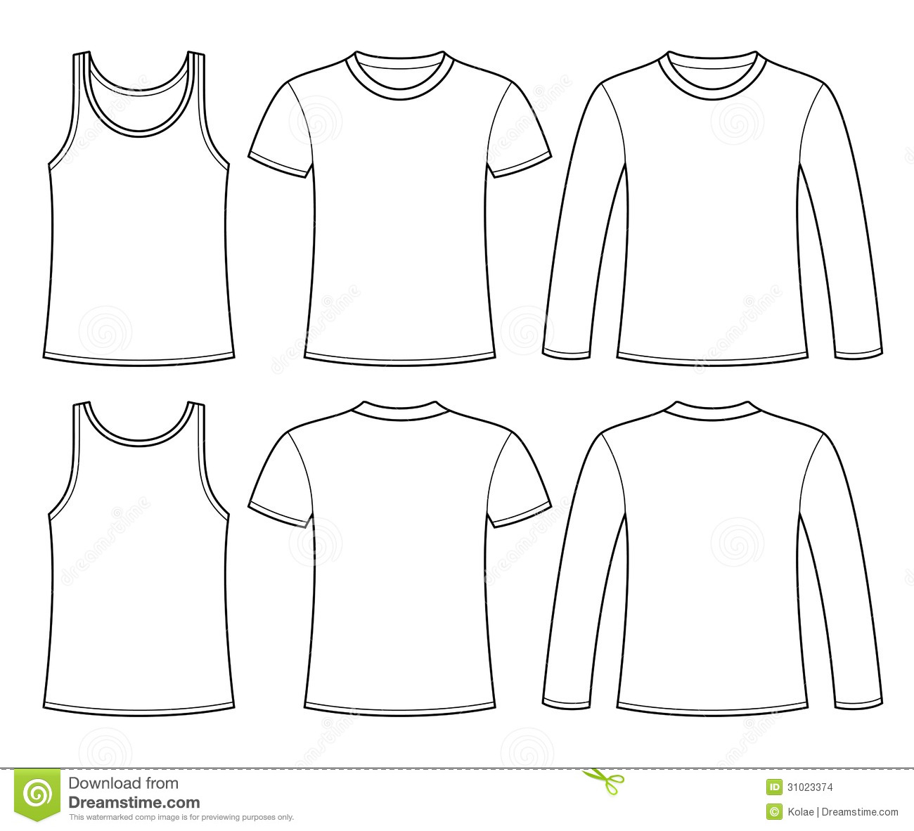 Long Sleeve T-Shirt Template
