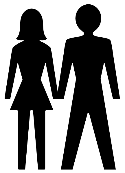 Man and Woman Clip Art