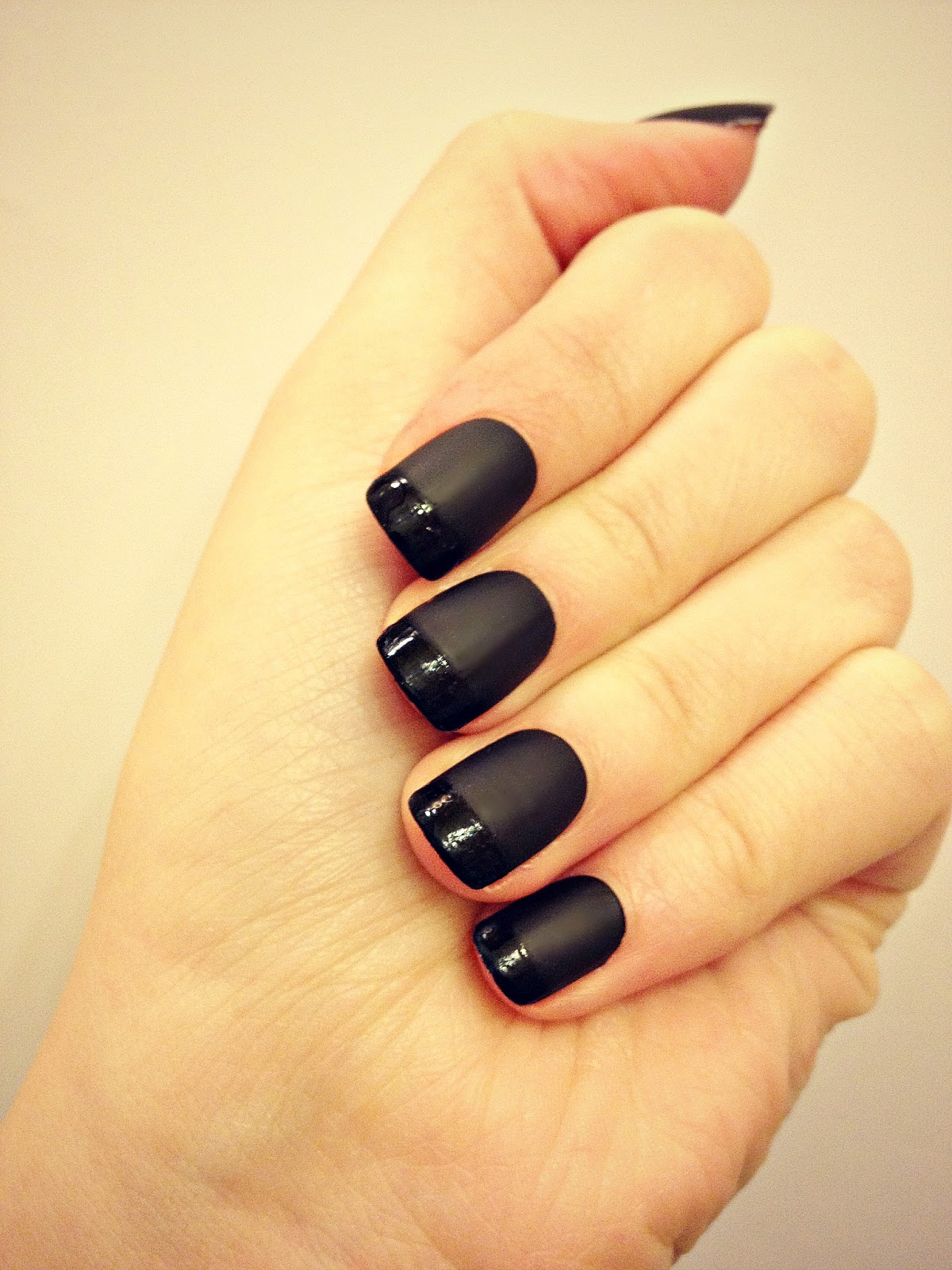 Matte Black Nail Designs