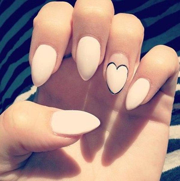 Matte White Acrylic Nails Stiletto