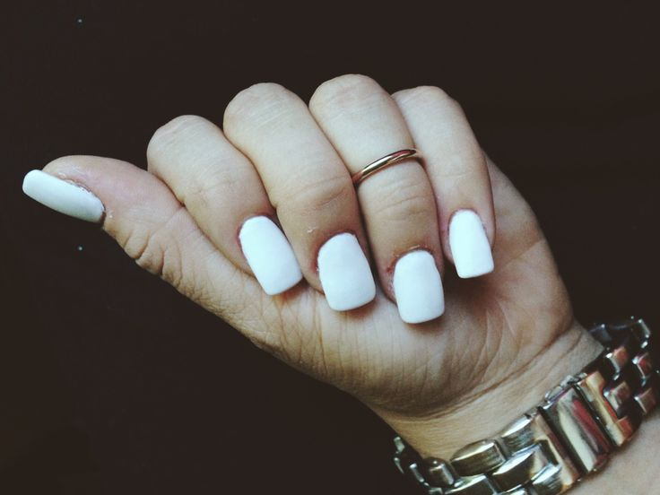 Matte White Acrylic Nails