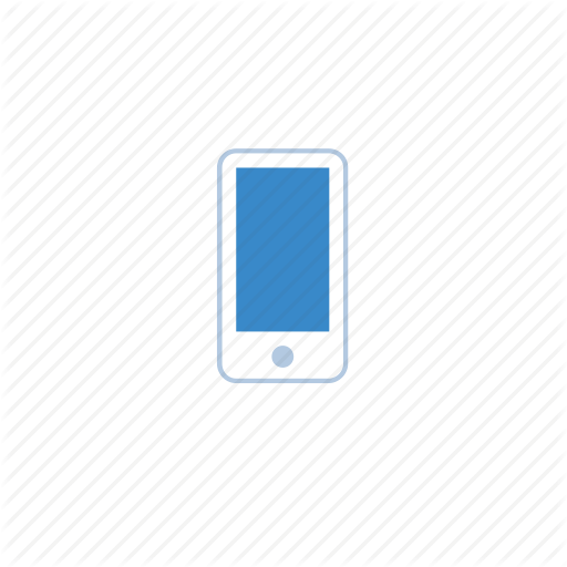 Mobile Phone Icon Blue Screens