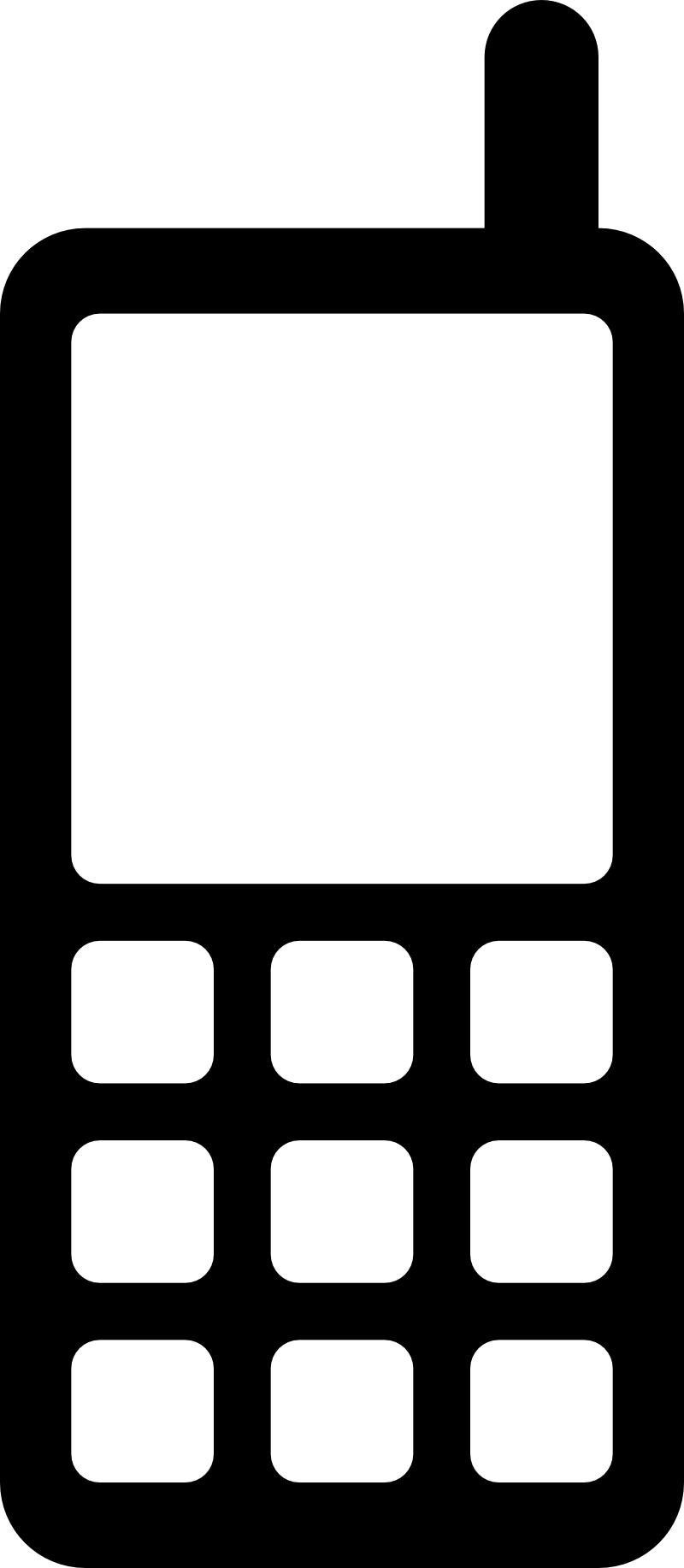 Mobile Phone Icon Symbols