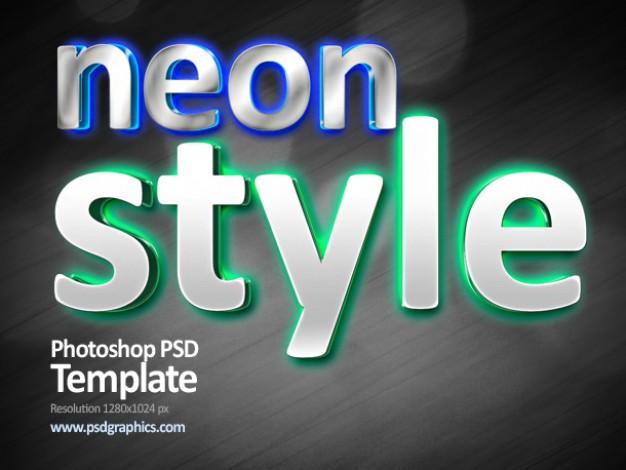 Neon Light Text Photoshop