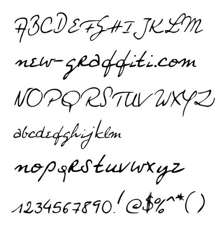 New Calligraphy Fonts