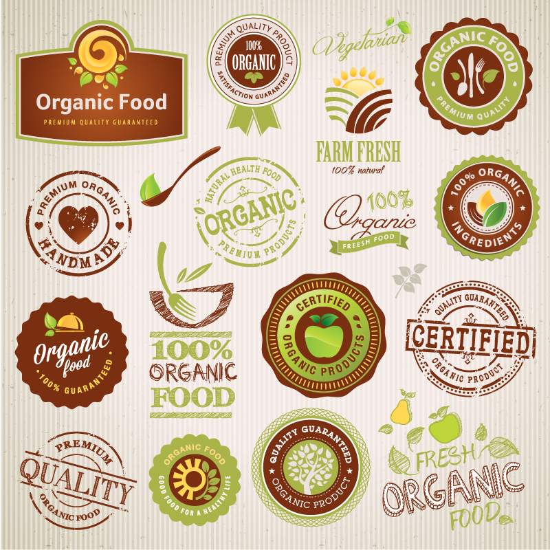 14 Organic Food Vector Images
