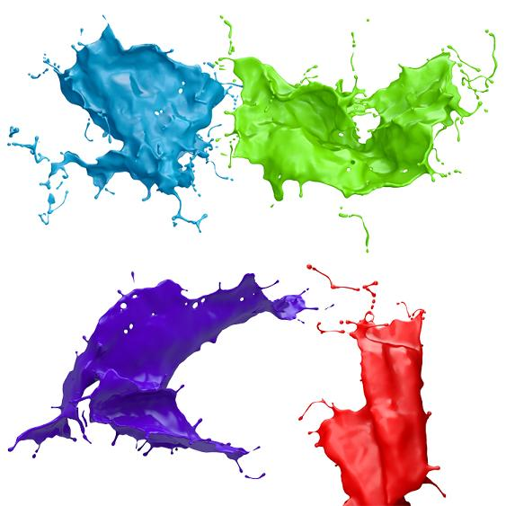 Paint Splash with Transparent Background