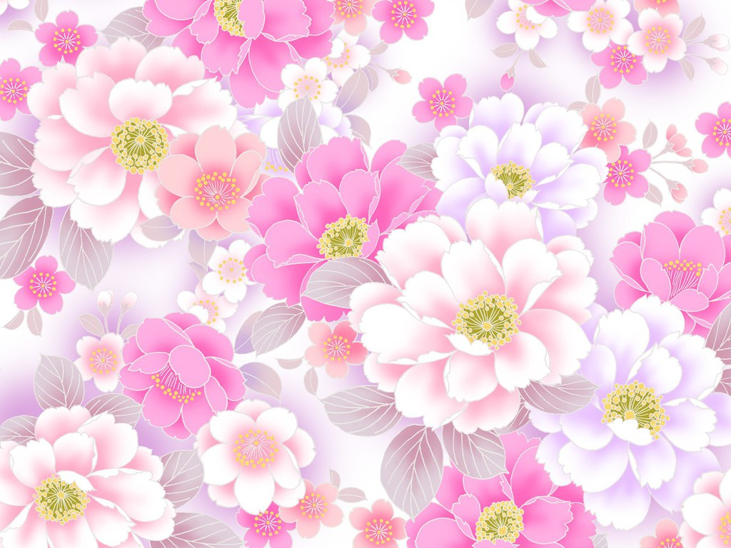 Pink Floral Flower Pattern