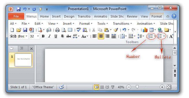 PowerPoint Toolbar Button