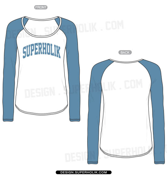 Raglan Long Sleeve T-Shirt Templates
