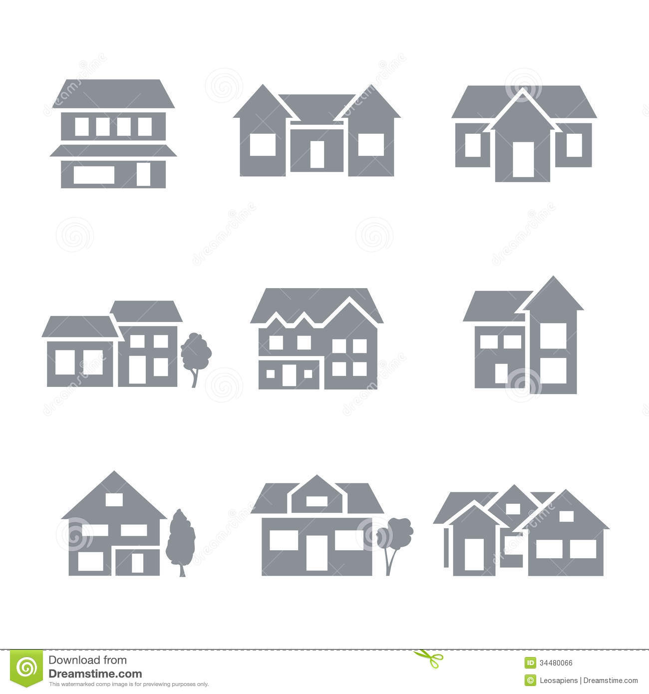 5 Residential Building Icon Images