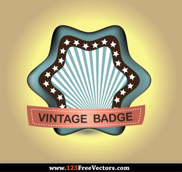 10 Vintage Badge Vector DeviantART Images