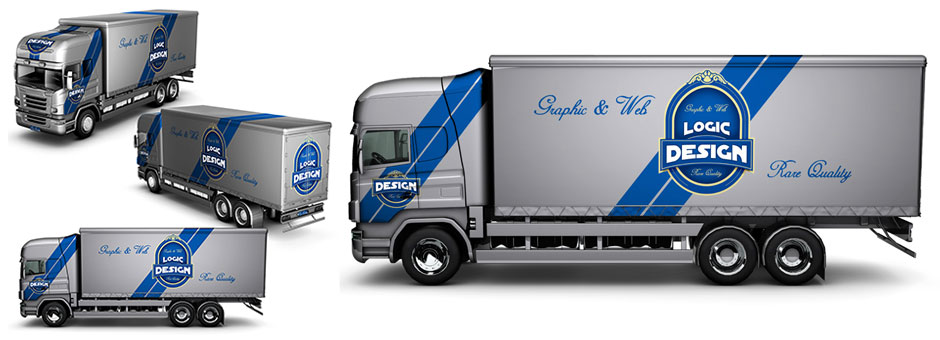 Semi Truck Mock Up