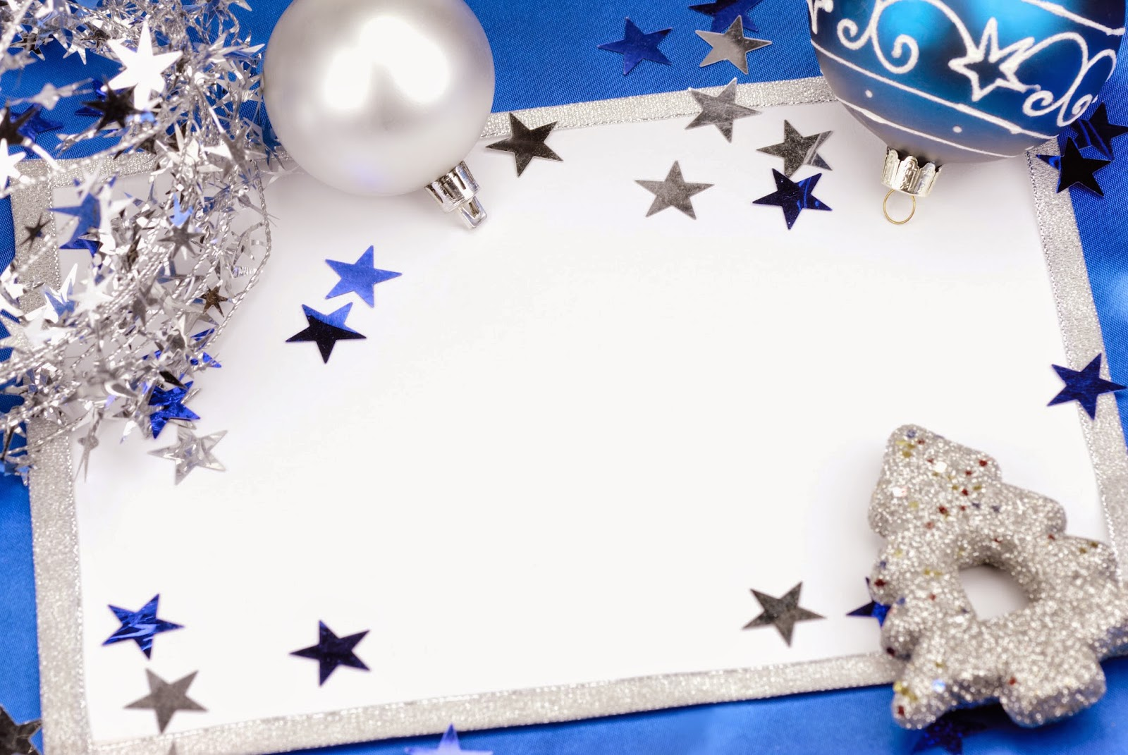 Silver Christmas Card Template Free