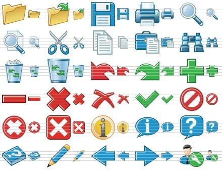 Standard Toolbars Icons