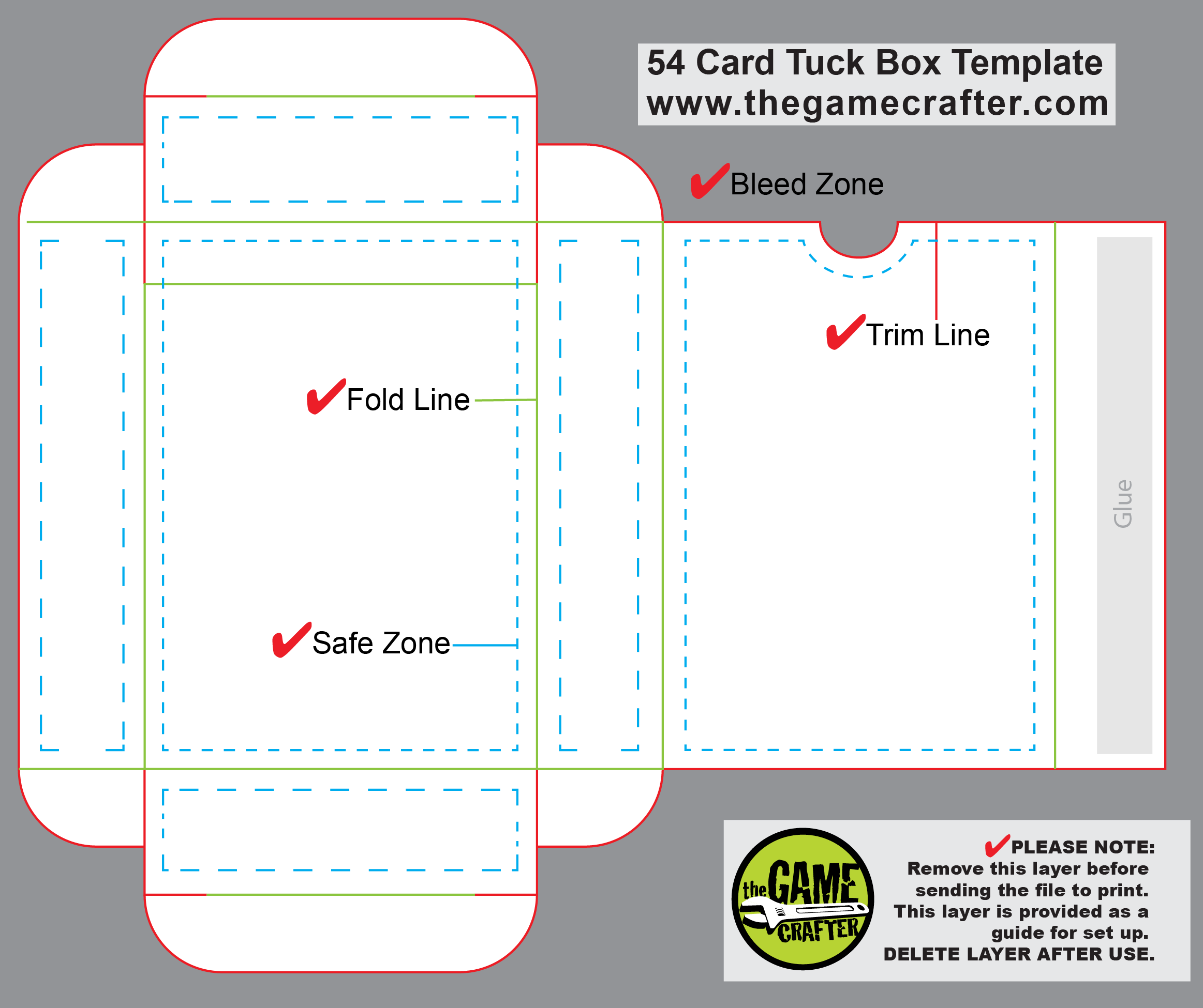 Trading Card Box Template