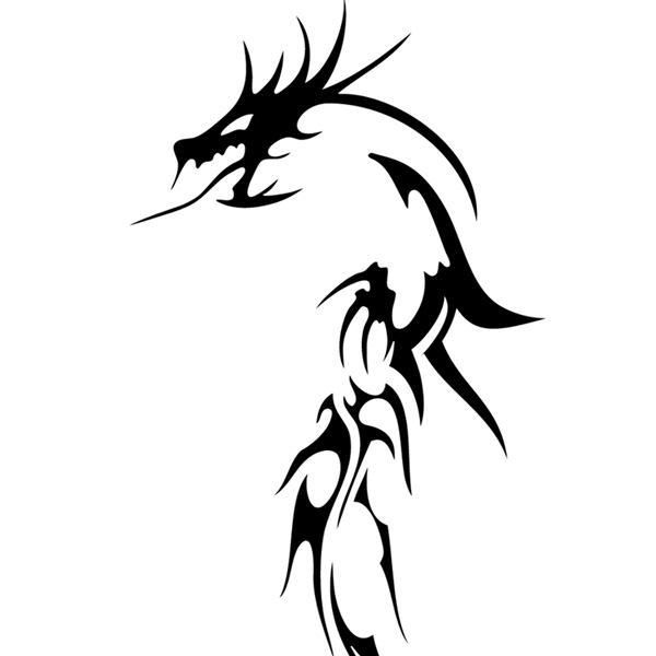 16 Tribal Dragon Vector Art Images
