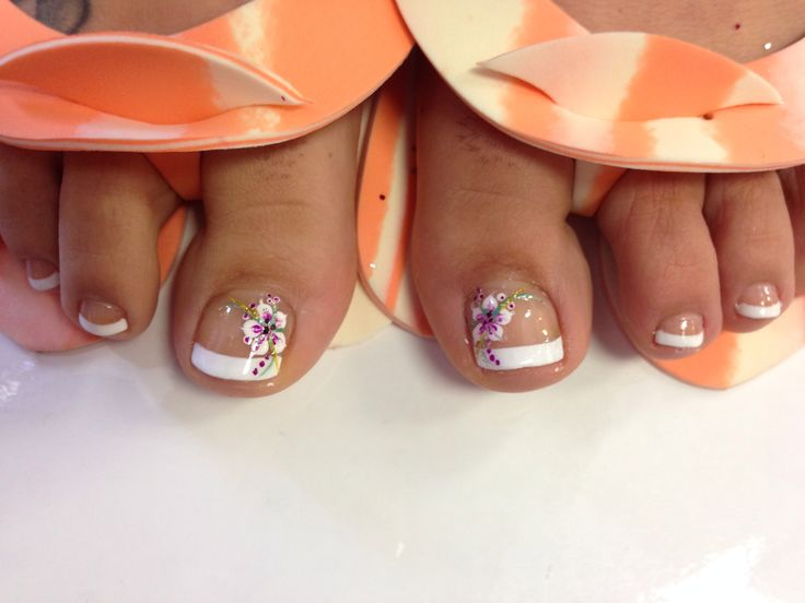 11 Hawaiian Flower Toe Nail Design Images Hawaiian Flower Toe Nail