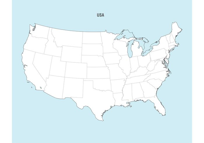 18 Us Map Vector Free Download Images - United States Map Vector ...