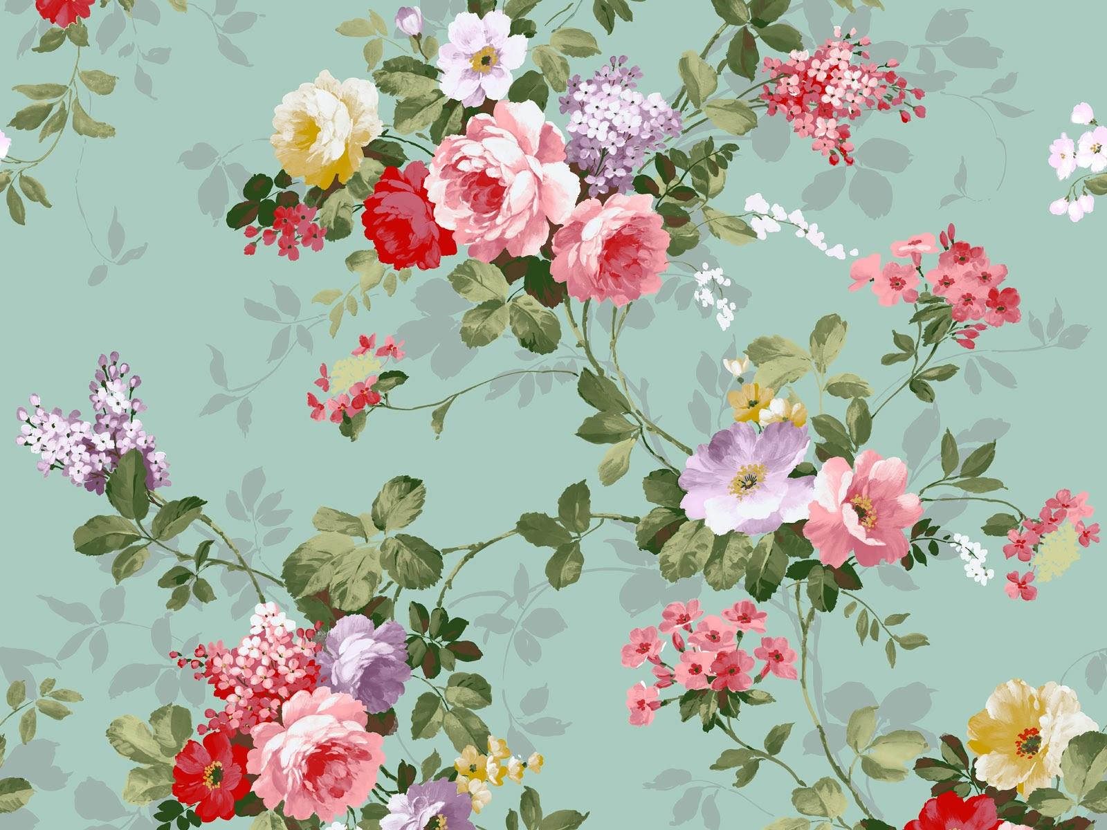 Vintage Floral Flowers Pattern