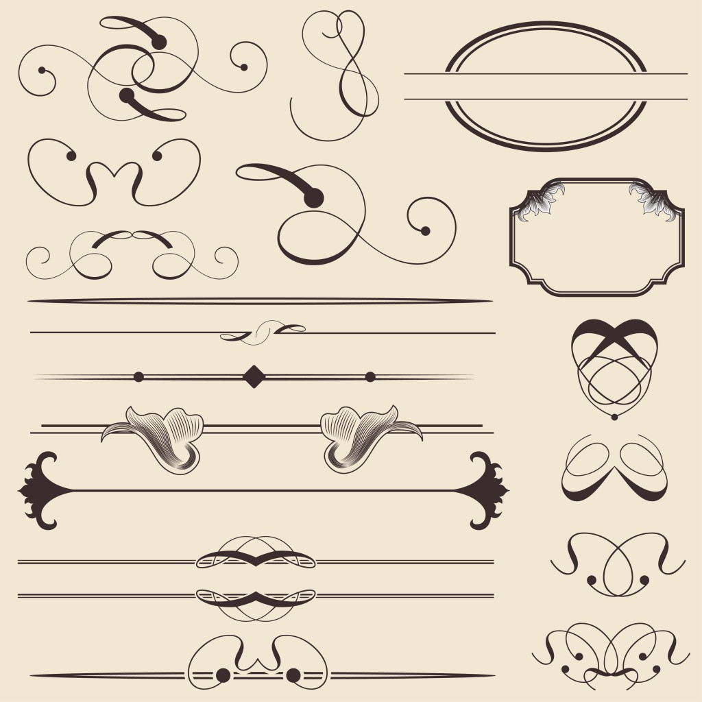 14 Free Vector Calligraphic Elements Images