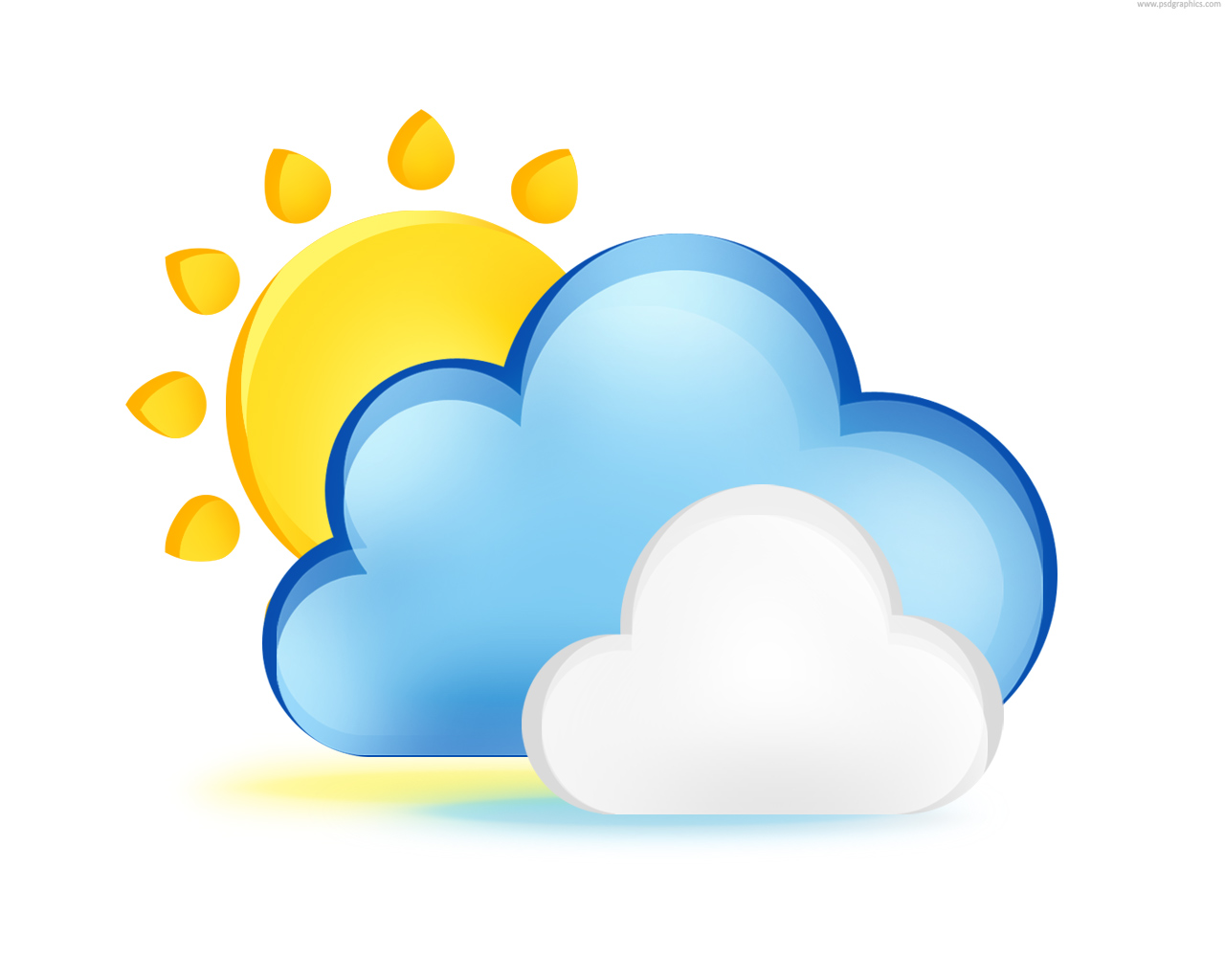 5 Weather Clouds Icons Images
