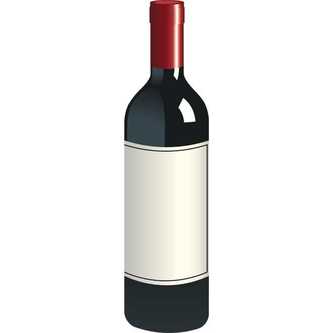 13 Wine Vector Free Images - Free Vector Wine Bottle ...