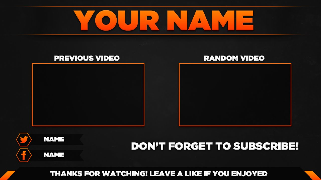 YouTube Outro Template