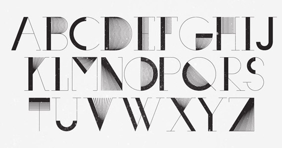 A Font Z Cool Letters