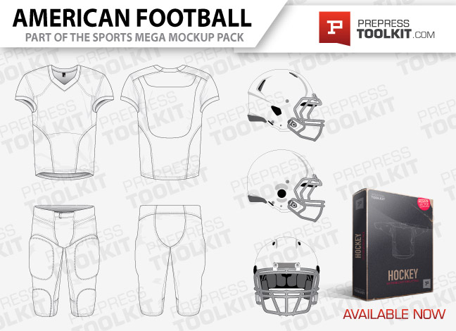 American Football Uniform Template