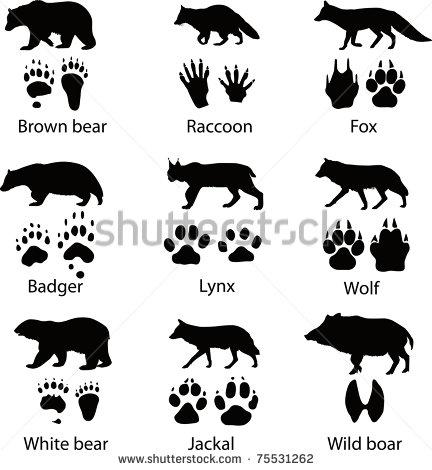 Animal Tracks Silhouette Clip Art