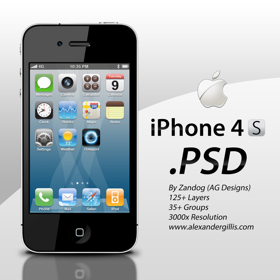 10 PSD IPhone 4S Images