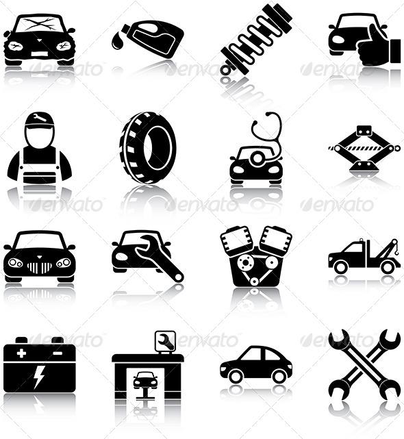 Auto Mechanic Tools Silhouette